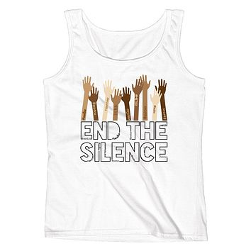 End the Silence - #MeToo Movement Ladies' Tank