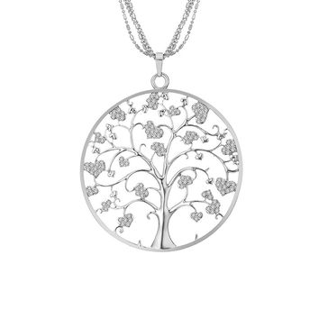 Necklace for Women,Celtic Tree of Life Pendant Necklace with CZ Crystal Girls Long Chain Necklace