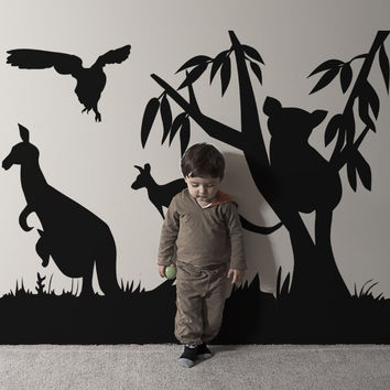 Vinyl Wall Decal Sticker Australian Animals #OS_AA467