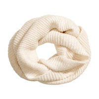 Knitted Tube Scarf - from H&M