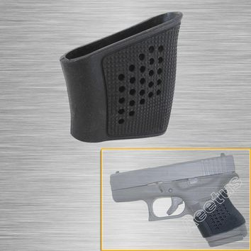 Tactical Grip Glove Slip-On Grip Sleeve Tactical Grip Glove for Glock 42, 43 Shield Rubber Black Free Shipping