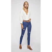 Free People Destroyed Long And Lean Jegging