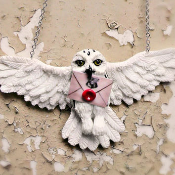 Harry Potter Owl Hedwig - Polymer clay
