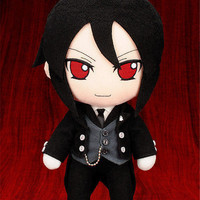 "Anime Black Butler Sebastian Michaelis Kuroshitsuji 10"" Plush Toy Stuffed Doll"