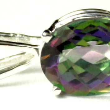 SP002, 3.3 ct Mystic Fire Topaz, 925 Sterling Silver Pendant