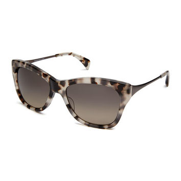 SALT. Milla Polarized Butterfly Sunglasses, White/Brown