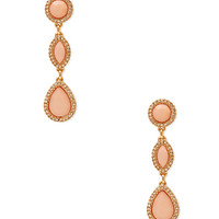 FOREVER 21 Old Glam Drop Earrings Peach/Gold One