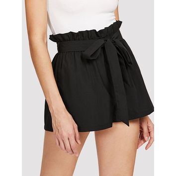 Night In The City Shorts - Black