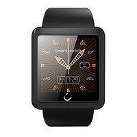 Uwatch U10L Bluetooth Smartwatch High Quality Silicone Strap Smartwatch U10L for ios Android Multi Language Music Player Wearable Devices (Black)