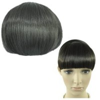 Straight Bangs Smooth Extensions Fringe Wig (Model: Jf010319) (Black)