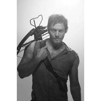 "Norman Reedus Poster Black and White Poster 16""x24"""
