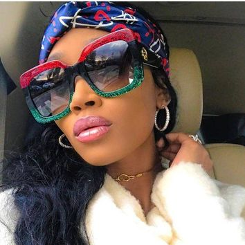 sunglasses 2018 oversized shades luxury brand design women's ombre optyl red gre