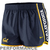 Nike Cal Bears Womens Chainmaille Pacer Performance Shorts - Navy Blue