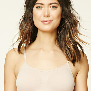 Ruched-Front Seamless Bralette