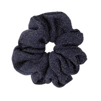 Navy Glitter Hair Scrunchie