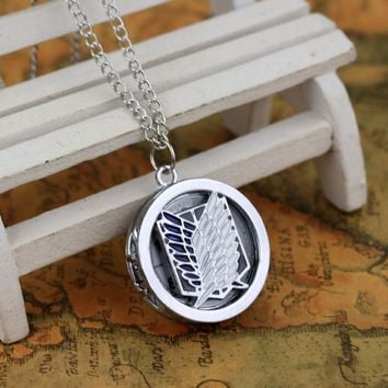 Cool Attack on Titan  Survey Corps Pocket Watch No  Wings Of Liberty Symbol Cosplay Necklace Pendant AT_90_11