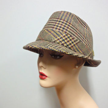 Smart 60s Tweed Fedora, Aristocraft Stingy Brim, Snap Brim Hat