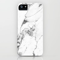 White Marble I iPhone & iPod Case by THE AESTATE
