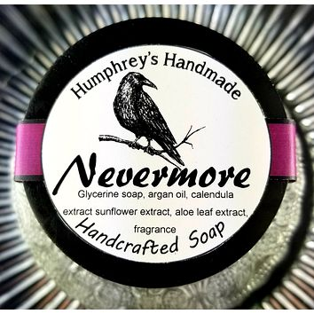 NEVERMORE Oud & Pumpkin Glycerin Soap | Shave & Body Bar | Beard Wash | Shave Puck | Woodsy | Nutmeg | Cloves