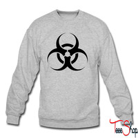 Biohazard Caution crewneck sweatshirt