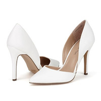 DREAM PAIRS OPPOINTED Women's D'Orsay Style Pointy Pumps Classic Stiletto Heel Shoes New  high heels white