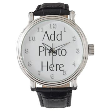 Add Photo Here Custom Watch