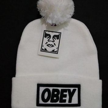 Obey Women Men Embroidery Beanies Knit Wool Hat Cap-13