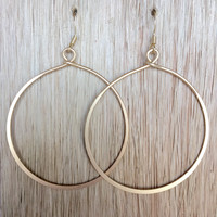 Hook Up Hoop Earrings In Gold