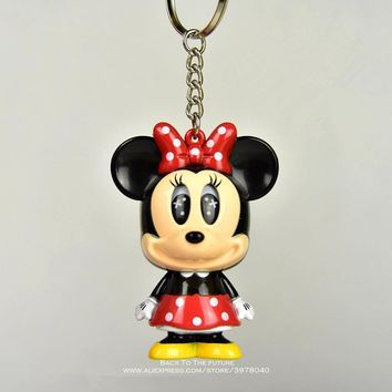 Disney Mickey Mouse Minnie Change the eyes 8cm Model Anime PVC Action Figures Accessories Figurines For Kids Gift Children Toy
