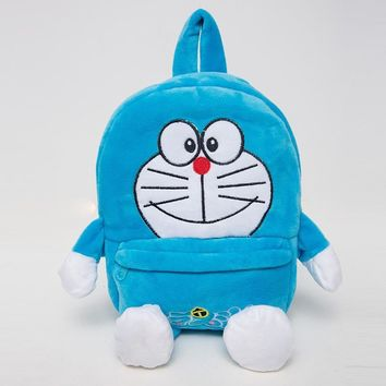 Cute Cartoon Doraemon Children Gift Kindergarten Boy Backpack Plush Baby School Bag For Girl Teenagers Kid Soft Toy Bag Mochila
