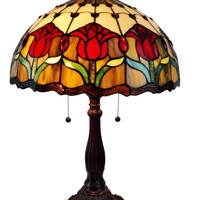 Tiffany Style Tulips Table Lamp 24 Inches