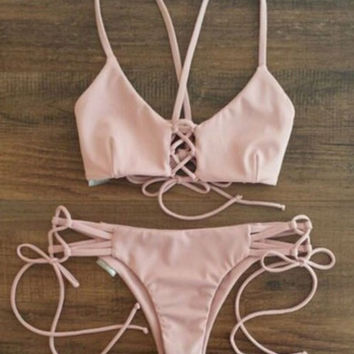 Bandage Cut-out Bikini