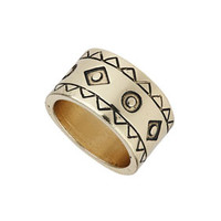 AZTEC PATTERNED BAND RING