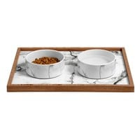 Marble Pet Bowl and Tray Chelsea Victoria