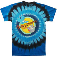 Simpsons Men's  Itchy And Scratchy Tie Dye T-shirt Multi