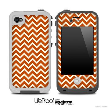 Brown and Gold Chevron V2 Pattern for the iPhone 5 or 4/4s LifeProof Case