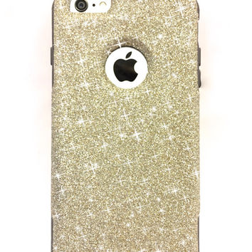 iPhone 6 Plus Custom Glitter Otterbox Commuter Cute Case,  Custom  Glitter White Gold / Grey Otterbox Color Cover for iPhone 6 Plus