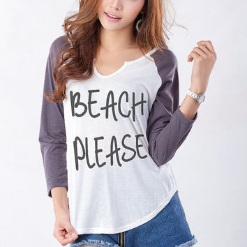 Beach Please TShirts for Women Funny Sweatshirt Cute Sweaters for Teen Girl Gift Hipster Tumblr Instagram Fashion Blogger Pinterest Twitter