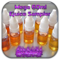 Sampler Packs  - Mega 60ml Ejuice Sampler - Ace eJuice