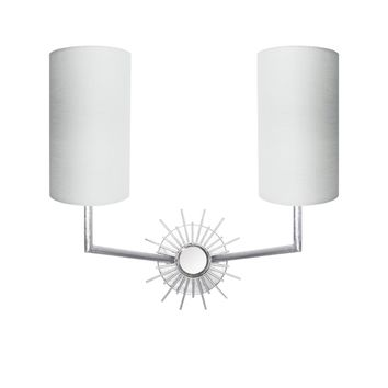 Worlds Away Brooke Silver Sconce