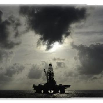 Distant offshore oil rig iPhone 6 Case