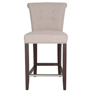 Luxe Counter Stool Almond Fabric