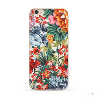 Flowers Painted Transparent Shell Phone Case For Apple iPhone 6 6s