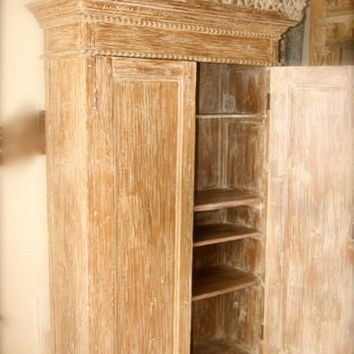 wWood cupboard,teak wood,rustic,storagewhite wash,