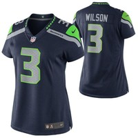 Women's Seattle Seahawks Russell Wilson Nike Navy Blue Limited Jersey