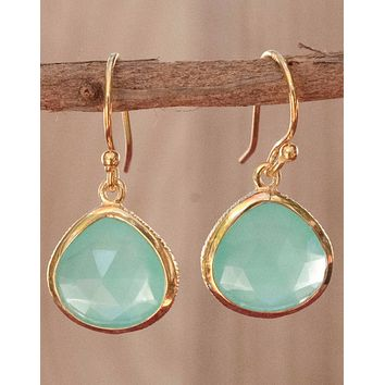 Lihue - Aqua Chalcedony Earrings (BJE047C)