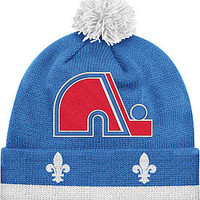 Mitchell & Ness Quebec Nordiques Vintage Jersey Cuff Knit Hat