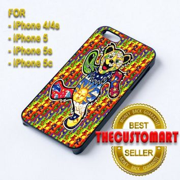 The Grateful Dead Dancing Bear - For iPhone 4/4S Black Case Cover