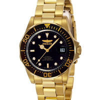 Invicta 8929 Men's Pro Diver Gold Tone Automatic Black Dial Dive Watch