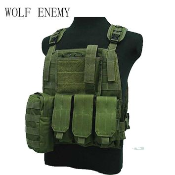 Waterproof USMC Tactical Vest Colete Airsoft Tactical Military Molle Soft Body Armor Plates Carrier Vest Military Uniform
